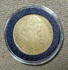 Gold 8 Escudos - Peru - 1805 Jp - free ship