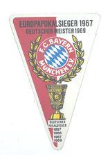 FC Bayern München Aufkleber Wimpel DM 1969 Logo Bundesliga Fussball #616