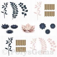 21 Piece Set Paper Wedding Table Decorations Flowers Branches Leaves Tags Twine