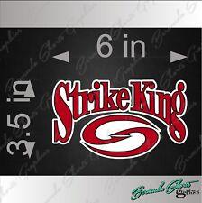 """STRIKE KING Fishing Logo / SINGLE / 6"""" Vehicle Vinyl Decal Watercraft Sticker"""