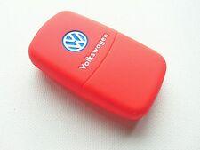 Vw Rojo De Silicona Keyfob Skin Cover Golf Gti R GT TDI Polo Volkswagen Transporter