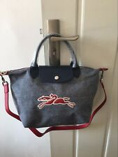 Longchamp Le Pliage On The Road Canvas Leather Tote Satchel Bag Small