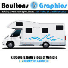 L MOTORHOME STRIPES - Camper Van Horsebox RV Sticker Caravan Decal Graphic WV1L