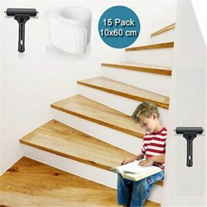 15PCS Non Slip Stair Treads Strips Safety Transparent Tape Safe Waterproof