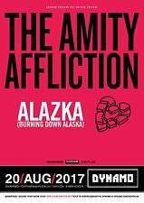THE AMITY AFFLICTION/ALAZKA 2017 NETHERLANDS CONCERT TOUR POSTER-Metalcore Music
