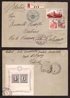 Switzerland, 1943 registered cover to Italy with good franking     -BA30