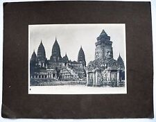 ANCIENNE PHOTO ORIGINALE EXPOSITION COLONIALE 1931 TEMPLE ANGKOR VAT