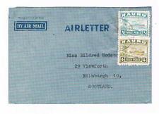 Nauru - 1947? -- Freighter Issues on AirLetter - SC 22a.23a [SG 31B-32B] 19