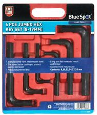 BlueSpot Large Jumbo Metric Hex Key Set Allan Allen Hexagon Wrench 8 - 19mm