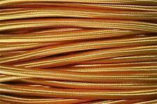 1 Metro De Oro Seda cubiertos 3 Core Luz Flex Cable trenzado Cable de lámpara colgante B4