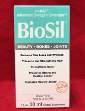 Natural Factors Biosil Hair Skin Nail 1 Oz 30 ml Liquid Collagen Generator