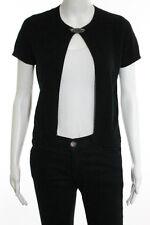 Ralph Lauren Black Cashmere Broach Short Sleeve Cardigan Sweater Size Medium