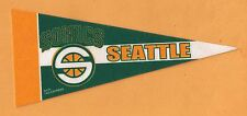 OLD SEATTLE SUPER SONICS 9 inch MINI PENNANT UNSOLD STOCK