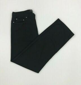 Men's Black Versace Jeans Couture Jeans W34 L32 Straight Leg Light Zip Fly VJC A