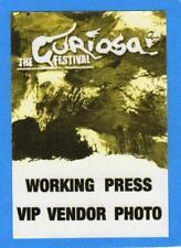 2004 The Curiosa Festival Cloth Pass Unused!