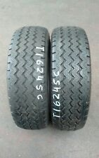 "2 NEW 225/65 R16 CP 112Q 80PSI MICHELIN XC CAMPING ""OLD STOCK"""