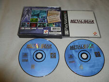 PLAYSTATION PS1 GAME METAL GEAR SOLID W CASE BLACK LABEL SONY PS2 TACTICAL SNAKE