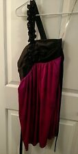 Black and Pink One Shoulder Prom/Party/Pageant  Formal Dress Sz M City Triangles