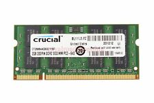 Crucial RAM 2GB 2Rx8 PC2-6400S DDR2 800Mhz 200pin SO-DIMM Laptop Memory Notebook