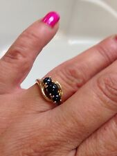 Beautiful 10K Yellow Gold Sapphire Cabochon Ring Sz 7 REDUCED PRICE!