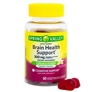 Spring Valley Brain Health Vegetarian Gummies 60ct
