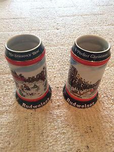 Budweiser Christmas Beer Mug/Stein 1991/92 The Seasons Best/A Perfect Christmas