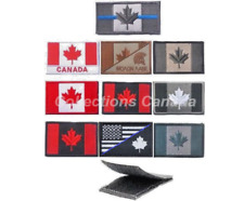 Canadian Flag Military Moral Armband Patch Hook & Loop - SHIPS FROM CANADA 🇨🇦
