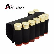8 Round Shotgun Buttstock Shell Holder Elastic Ammo Tactical Holster Loop Gauge