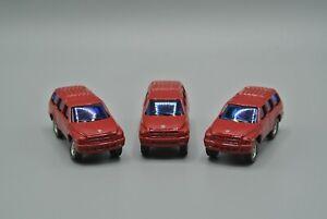 Maisto Dodge Durango Red China Diecast Cars Used Lot of 3