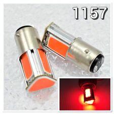 2X COB LED Red Car Bulb Front Signal Parking 1157 3496 7528 BAY15D P21/5W K1 AK