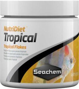 Seachem NutriDiet Tropical Flakes Probiotic Fish Food With GarlicGuard 15-Grams