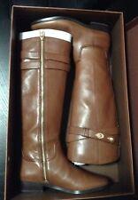 NIB Coach Linette Leather Long Boots Shoes Riding Winter Cognac Brown 6 M $390