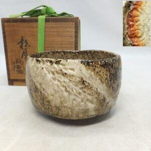 A799: Japanese tea bowl of KIKKO pottery with good glaze by famous Shogetsu