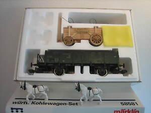 Märklin 58581 Gauge 1 Freight Car Kohlewagenset Like New Original Box