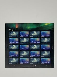 POLAR LIGHTS 2007 US SCOTT #4203-4204 AURORA BOREALIS 41c MINT NH 20 STAMP SHEET