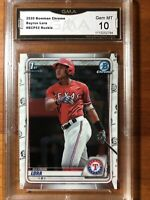 2020 Bowman Chrome Prospects Bayron Lora #BCP52 Texas Rangers Gem Mint 10!