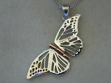 Clogau Sterling Silver & 9ct Rose Welsh Gold Small Butterfly Locket RRP £139.00