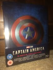 Captain  America 3 Movie Collection Blu Ray Steelbook New Uk Edition SOLD OUT
