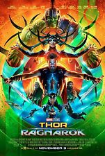 Marvel THOR RAGNAROK 2017 Original DS 2 Sided 27x40 Movie Poster Chris Hemsworth
