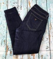 Guess Power Skinny Jeans Low Rise Blue Stretch Denim Sz 32/29 Women's