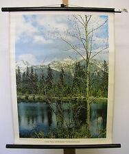 Beautiful Mural High Tatras Strba Glacier tschirmer Lake 55x71cm Vintage ~ 1960