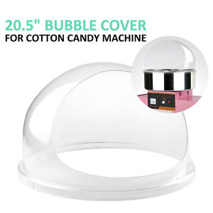 """21"""" Commercial Cotton Candy Machine Cover Clear Floss Maker Bubble Shield Dome"""