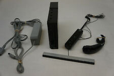 Black Nintendo Wii Console w/ Extras Gamecube Compatible