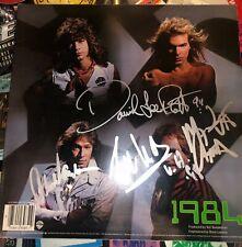 Van Halen 1984 record vinyl signed by ORIGINAL MEMBERS Eddie Van Halen PSA LOA