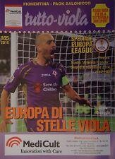 Programm UEFA EL 2014/15 Fiorentina - PAOK Saloniki