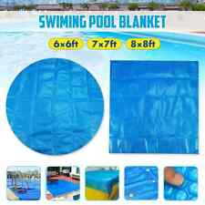 Pool Cover Swimming Tub Square/Round Solar Outdoor Bubble Blanket Accessories