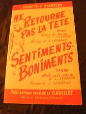 Partition Ne returns not the head Legrand Sentiments Patter 1962