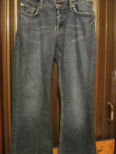 Womens 6/28 LUCKY BRAND 30 X 29 BUTTON FLY Distressed Blue Jeans