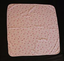 Baby Sprockets Blanket Pink Wht Stripe Dot Bird Butterfly Floral Security Lovey