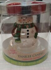 Yankee Candle Christmas Snowman Tea Light Gift Set Sparkling Cinnamon 6""